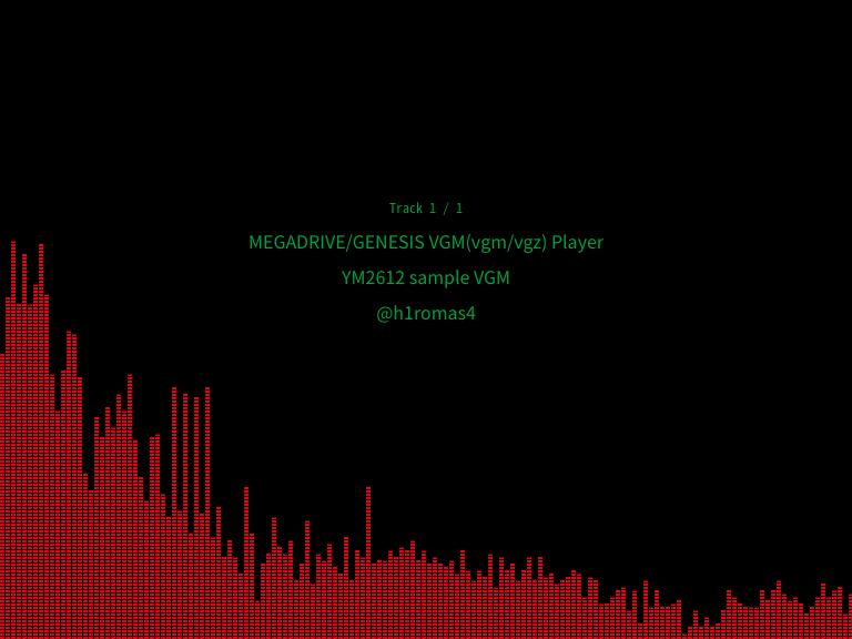 YM2612/SN76489 VGM player by Rust